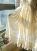 Vintage Lolita Casual Maxi Dress Wedding Bride White Grey Autumn Spring Outfit