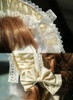Vintage Lolita Handmade Cute Hat Ladies Grey Velvet Summer Bonnet