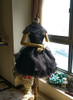 Front View w/o sleeve pieces under natural sunlight (Black Ver.) (petticoat: UN00026, bloomers: UN00025)