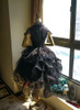 Back View w/o sleeve pieces under natural sunlight (Black Ver.) (petticoat: UN00026, bloomers: UN00025)