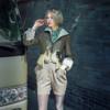 Model Show (blouse: TP00170, jumper shorts: SP00190, sunglasses: AD00614)