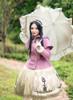 Model Show (Lilac Ver.) (headdress: P00636, coat: CT00303, dress: DR00243, petticoat: UN00026, gloves: P00572)