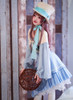 Model Show (Misty Blue + Ivory Ver.) (hat: P00614, skirt: SP00197, petticoat: UN00026)