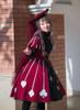 Model Show (Burgundy + Black Ver.) (hat: P00645, underdress: DR00187, petticoat: UN00026, wristlets: P00530)