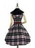 Back View (Pink & Black Plaid Ver.) (petticoat: UN00019)