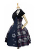 Front Side View (Dark Blue & White Plaid Ver.) (petticoat: UN00019)