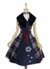 Front View (Dark Blue & White Plaid Ver.) (petticoat: UN00019)