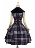 Back View (Dark Blue & White Plaid Ver.) (petticoat: UN00019)
