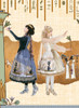 Model Show (Silver + Grey Ver.) (petticoat: UN00028) (Right girl wearing dress set DR00243, petticoat: UN00019, UN00026, headdress: P00636)