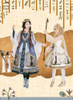 Model Show (Silver + Grey Ver.) (cape: CT00311, petticoat: UN00028) (Right girl wearing dress set DR00243, petticoat: UN00019, UN00026, headdress: P00636)