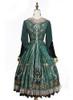 Back View w/o skirt piece (Dark Green Ver.) (petticoat: UN00019, UN00026)