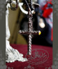 Gothic Large Cross X Crown Necklace*2Colors