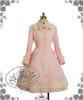 Classic Elegant Lolita Revers Embroidery Antique Embrodiery Yoke Warm Wool Coat&Detached Fur