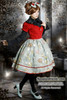 Last Chance: Fire Balloon Adventure Steampunk Lolita: Corset Lacing Up Dress& Bowknot Headdress*2colors Instant Shipping
