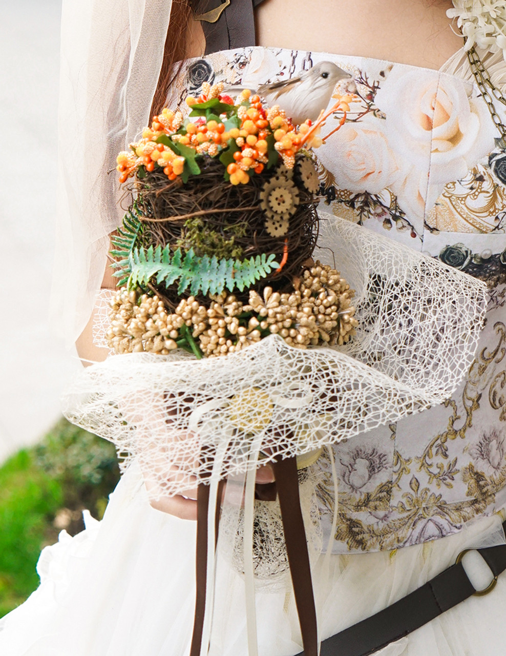 Handmade steampunk bouquet wedding flowers izmirmasajfo