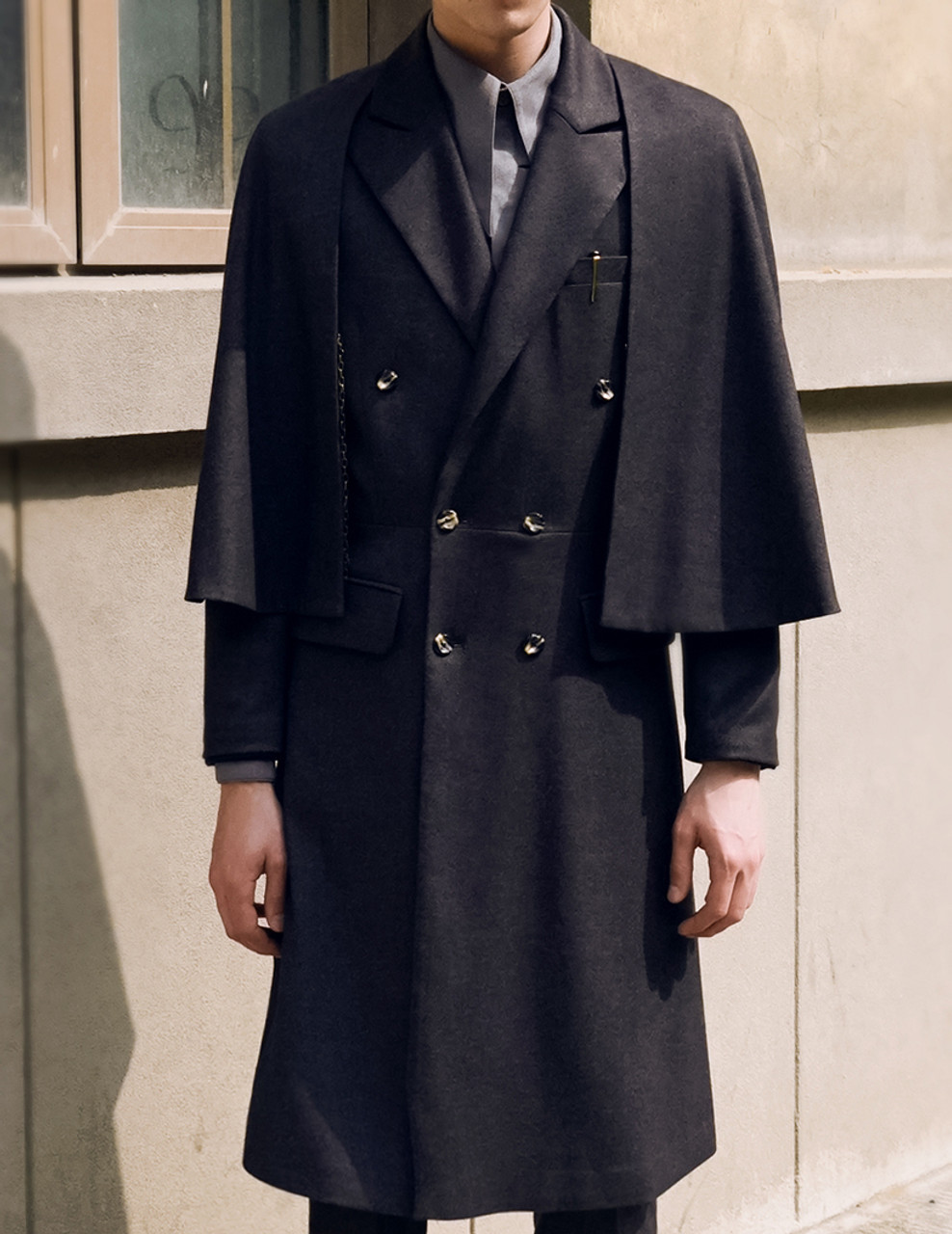 Vintage Mens Coat Worsted Wool Coat Frock Coat Inverness ...