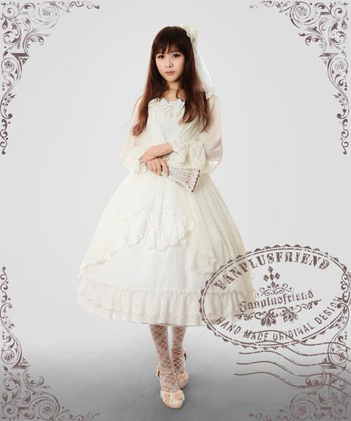 Front View (White Ver.) (hairdress: P00570, dress: DR00130, fan: P00580, petticoat: CT00040S (mid-calf length), birdcage petticoat: UN00019L)