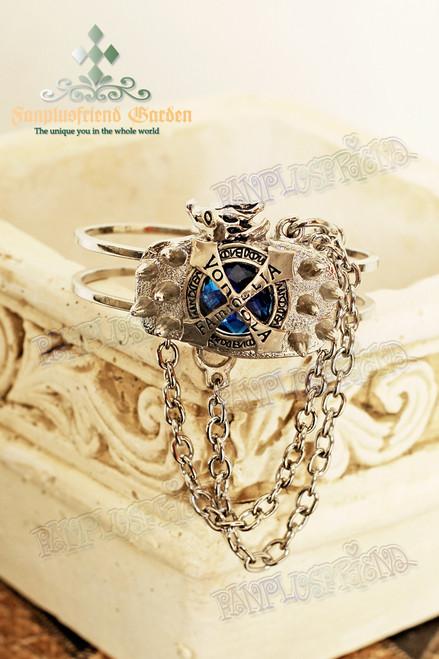 Gothic Restrained Diamond & Chains Bracelet (Reborn!)