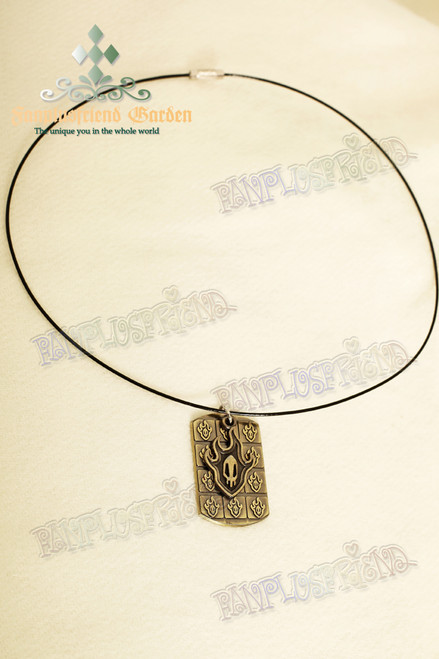 Gothic Flame Double Pendants Necklace (BLEACH)