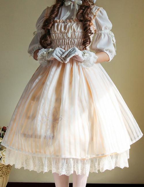 Model Show (Ivory + White Stripe Ver.) (cutsew: TP00137, gloves: P00592, petticoat: UN00019)
