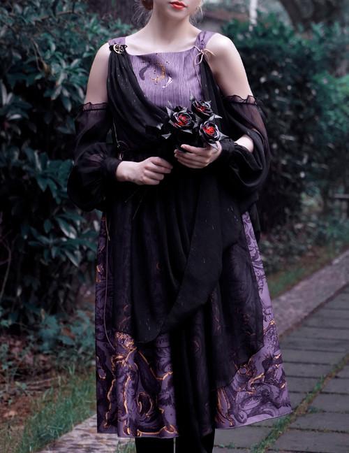 Vintage Printed Dress Ancient Greek Goddess Summer Dress Set Last Chance On Sale