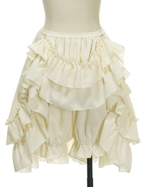 Front View when Skirt Layer front buttoned-up (Light Beige Version)