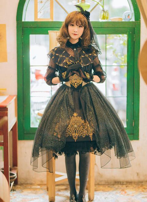 Model Show (headdress: P00607, dress: DR00220, cutsew: TP00137N, gloves: P00581, bracelets: P00530, petticoat: UN00026)