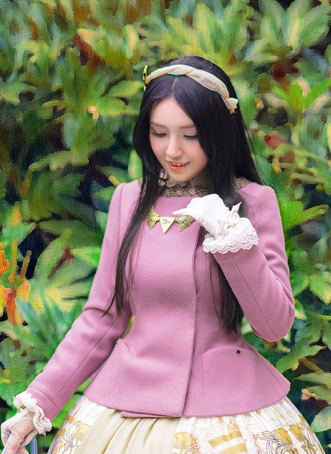 Model Show (Lilac Ver.) (headdress: P00636, dress: DR00243, gloves: P00572)