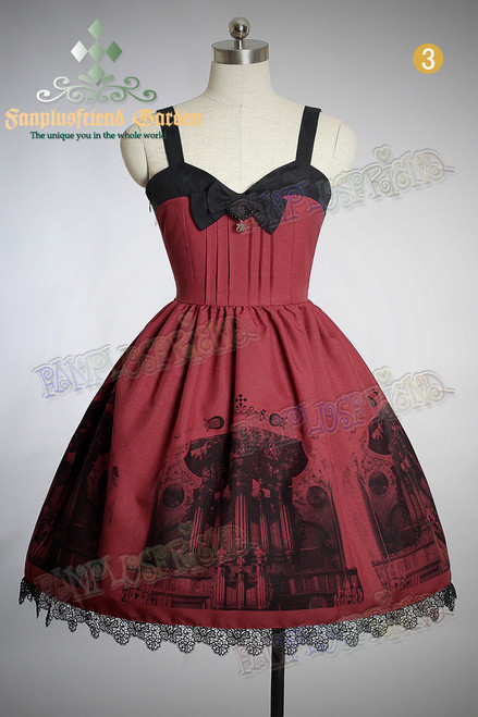 Last Chance: Baroque Pipe Organ Gothic&Classic Lolita Back Lacing-up JSK/Dress*3colors Instant shipping
