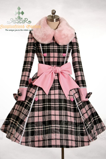 Front View (Pink×Black Plaid Ver.)