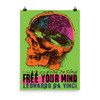 """Free Your Mind"" Da Vinci Photo paper poster"