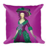 Goya Square Neoclassical Pop Art Green and burgundy throw pillows s by BWM Collection