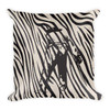 Eduard Manet- Square Throw Pillow Black and White Zebra Décor by BWM Collection