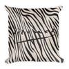 Eduard Manet- Square Decorative Pillow Black and White Zebra Décor by BWM Collection