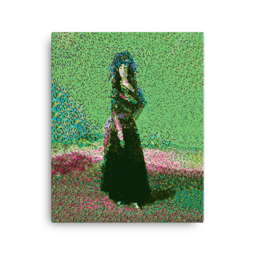 "Green "" Pause Goya Pose"" Canvas"