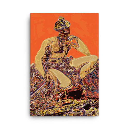 """Mars Wonders of the Red Planet"" Diego Valazquez Neoclassical Pop Art Canvas"