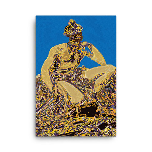 """Blue Mars"" Diego Valazquez Neoclassical Pop Art Canvas"