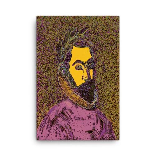 """El Greco Pink """"La Araucana"""" Neoclassical Pop Art on Canvas"""