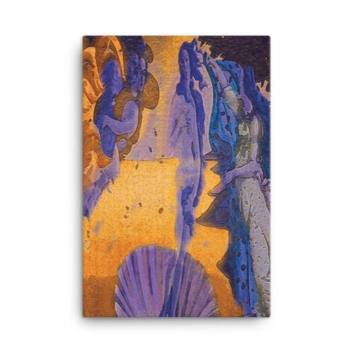 "Botticelli ""Venus"" Neoclassical Pop Art Print on Canvas"