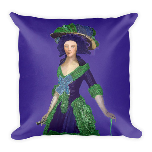 Francisco Goya Neoclassical Pop Art purple and green  decorative pillows by BWM Collection