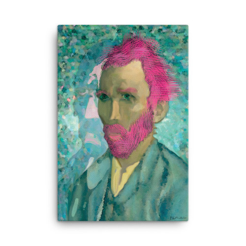 Van Gogh Neo Classical Pop Art self Portrait on Canvas