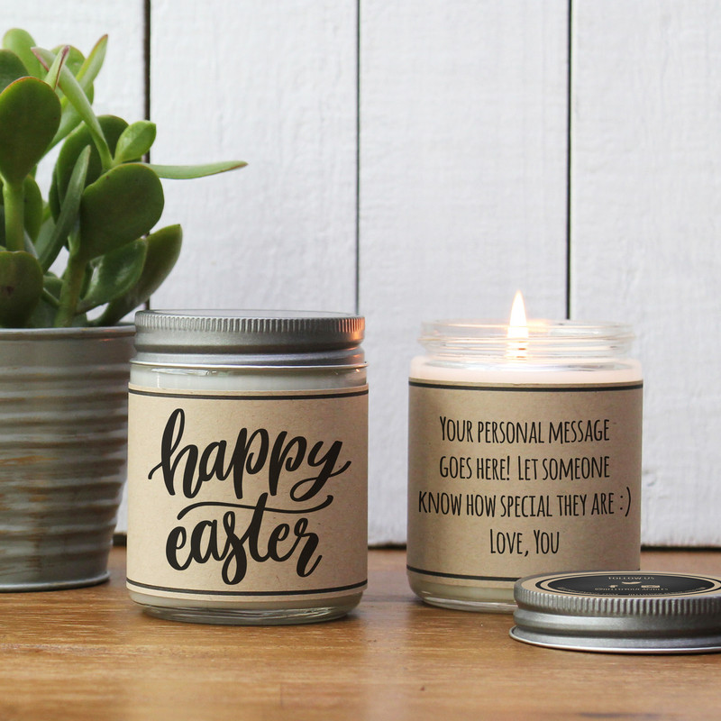Happy Easter - Personalized Candle Gift