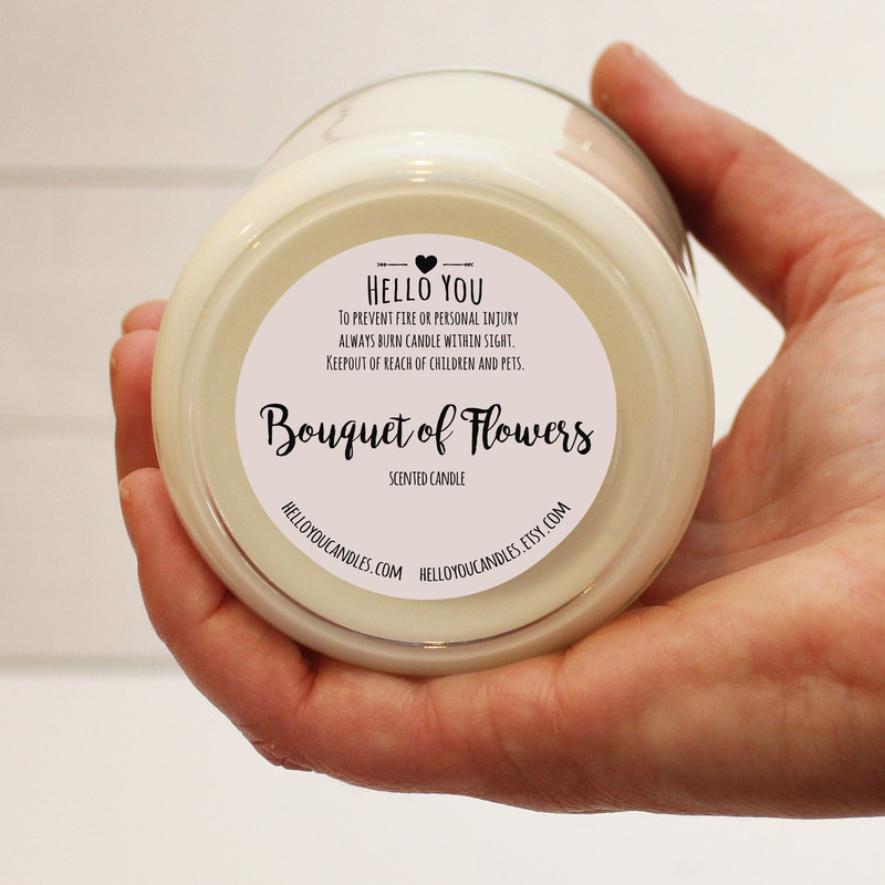 Bouquet of Flowers Scented Candle