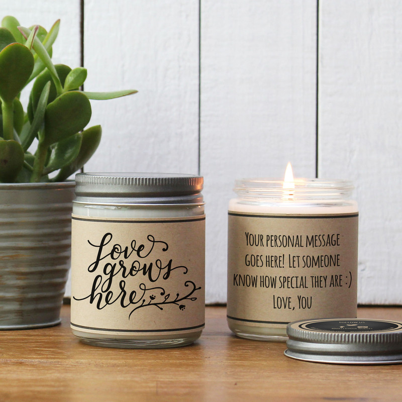 Love Grows Here Soy Candle Gift