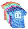 "Custom Volleyball Tie Dye T-Shirt ""Players with Net"" Logo"