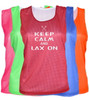 "Lacrosse Pinnie ""Keep Calm Lax On"" White Logo"