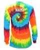 """Custom Dance Tie Dye Rainbow Long Sleeve """"Dancer"""" Logo"""
