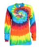 "Softball Tie Dye Rainbow Long Sleeve ""Play Tough"" Large Logo"