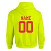 "Custom Softball Optic Yellow Sweatshirt ""Official Fastpitch"" Logo"
