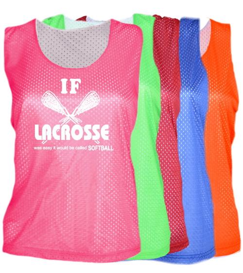 "Lacrosse Pinnie ""If Lacrosse..."" White Logo"